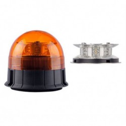 LAMPA BLYSKOWA 12/24V OBROTOWA LED WYS.125MM HOMOLOGACJA